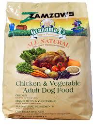 Natural dog food label