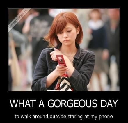 Staring At Phone
